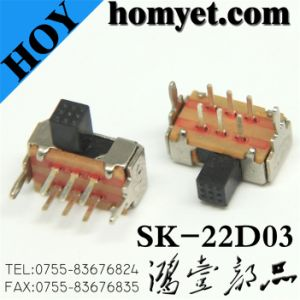 Micro DIP Switch/Slide Switch with Metal Casing (SK-22D03) pictures & photos