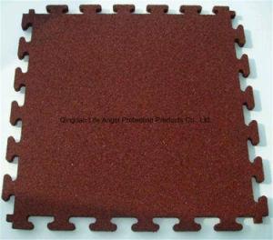 Non-Toxic 1m*1m Durable Elastic Interlocking Gym Rubber Tile pictures & photos