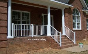 Aluminium Handrail or Glass Staircase and Glass Railing pictures & photos