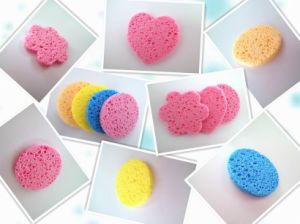 2017 China Pulp Wood and Cotton Makeup Remover Sponge pictures & photos