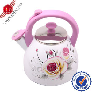 Whistling Elegant Decal Enamel Kettle/Jug pictures & photos
