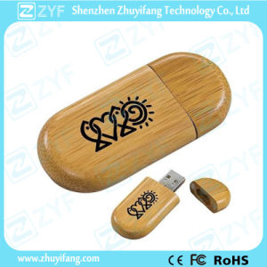 Free Sample Generic Bamboo USB Drive with Logo (ZYF1343)