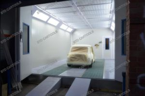 Used Car Paint Booth CE German Technology pictures & photos
