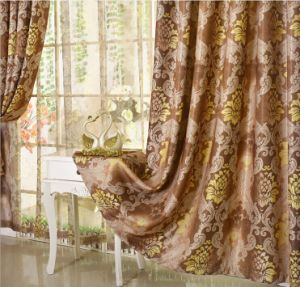 European Style Curtain Print Curtain The Shading Curtain (MM-108) pictures & photos
