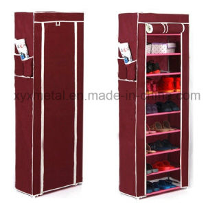 Metal Frame Waterproof Cloth Shoe Cabinet pictures & photos