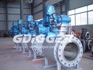 Forged Steel Trunnion Mounted Electric Ball Valve pictures & photos