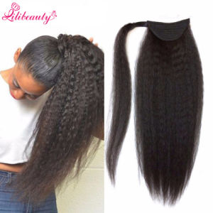 Brazilian Kinky Straight Hair Ponytail Natural Hair Human Hair Ponytail pictures & photos