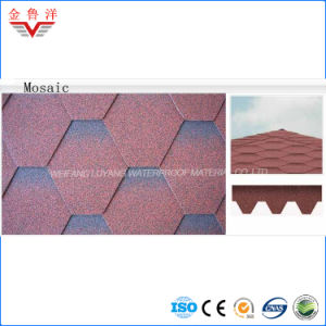 High Quality Mosaic Type Colorful Asphalt Shingle pictures & photos