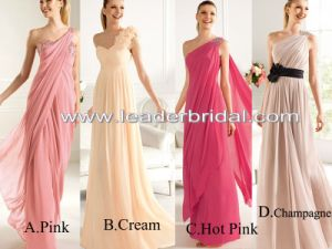 Shoulder  Dress on 2013 Suppplier Of Bridesmaid Dresses One Shoulder Multi Colors Chiffon