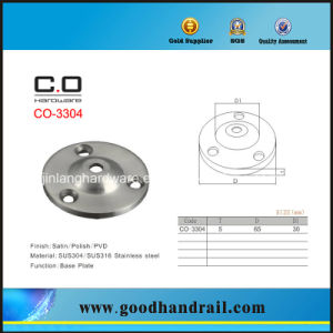 Base Plate (CO-3304) /Wall Bracket/Handrail Fittings pictures & photos