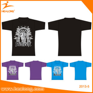 Healong Top Sale Gym Wear Digital Sublimation Printing T-Shirt pictures & photos