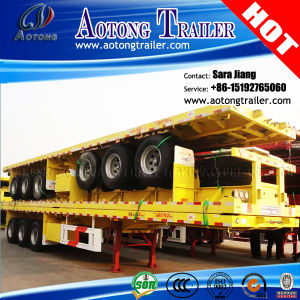 Semi Trailer Manufacturer 20FT/40FT Container Flatbed Trailer for Philippines pictures & photos