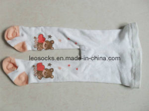 Baby Cotton Tights with Knitted Fancy Design pictures & photos