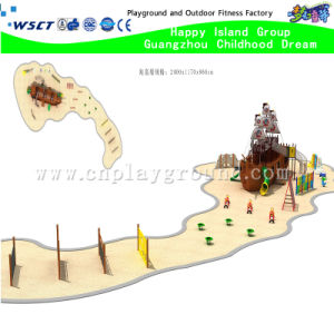 Outdoor Sand Playground Climbing and Sliding Combination (H15-03910) pictures & photos