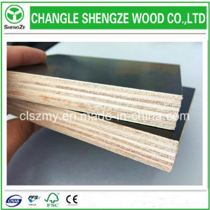 Professional Manufacture 12mm-18mm Black Melamine Plywood pictures & photos
