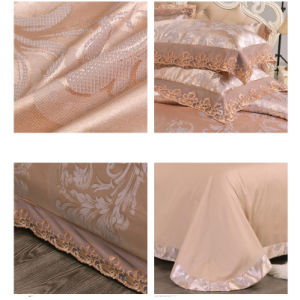 Satin Cotton Jacquard Home Use Bed Linen pictures & photos