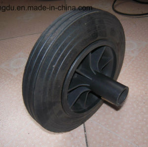 8 Inches Offset Hub Rubber Powder Wheel for Cleaning Box pictures & photos