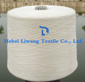 100% Polyester Yarn Raw White Single Yarn for Weaving and Knitting