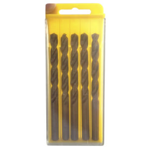 5PCS Yellow HSS Drill Bits Set with Plastic Box (JL-HDBS5) pictures & photos