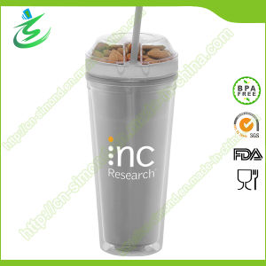 24oz Snack Tumbler/Snack Straw Cup with Flat Lid for Kids (TB-B403) pictures & photos