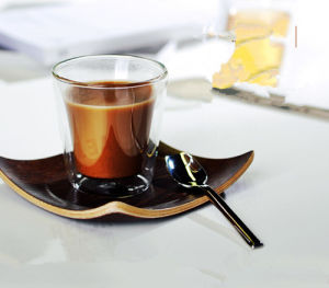 Hand-Made Double Wall Glass Cup Beer Cup Coffee Cup pictures & photos