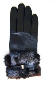 Lady Leather Gloves (JYG-23016) pictures & photos