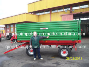 High Quality Best Price 8tons Double Panels Four Wheel Agricultural Farm Trailer pictures & photos