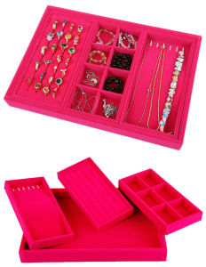 Velvet Combined Display Tray for Jewelry Shop pictures & photos
