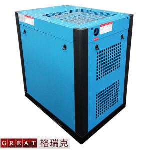 Free Noise Frequency Conversion Rotary Screw Air Compressor pictures & photos