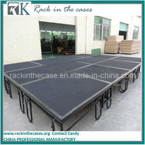 Rk Black Aluminum Folding Stage, Stage Deck with Folding Riser pictures & photos