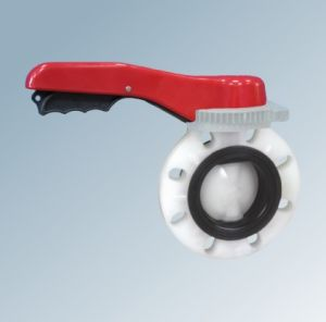 PVDF Plastic Butterfly Valve pictures & photos