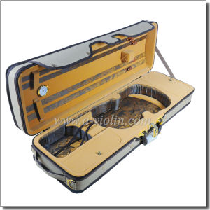 Light Foamed Leather Handle Violin Case (CSV071A) pictures & photos