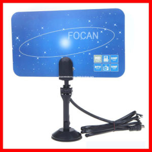 Digital Indoor HD TV HDTV DTV VHF UHF Flat High Gain Antenna pictures & photos