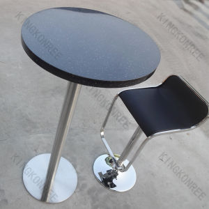 Dining Set Small Round Black Bar Table with Chairs pictures & photos