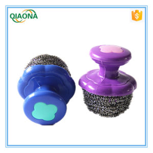 Plastic Handle Stainless Steel Scrubber pictures & photos