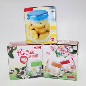 Floral Printed Square Paper Corrugated Box for Jar Packing pictures & photos