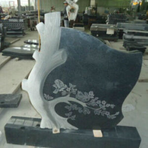 Popular Austrian Black Granite Headstone pictures & photos