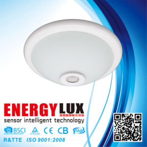 ES-PL01C 12W 220V Glass Ceiling Mount PIR Motion Sensor LED Light pictures & photos