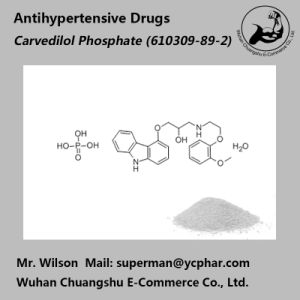 Popular Antihypertensive Drugs Carvedilol Phosphate Powder pictures & photos
