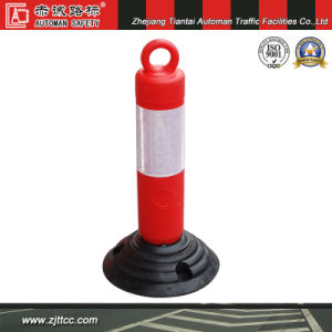 Reflective Rubber Base Orange Flexible Posts (CC-E04) pictures & photos