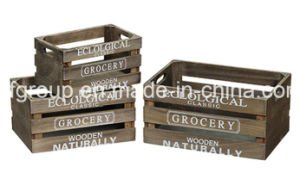Handmade Vintage Look Customized Chic Wooden Crates for Storage pictures & photos