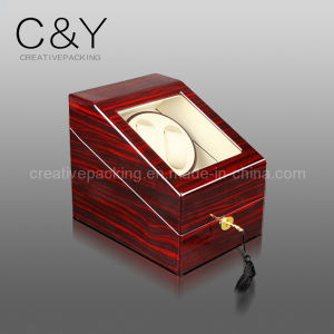Lockable Cherry Wood Watch Winder in Piano Finish pictures & photos
