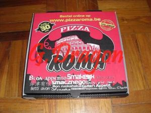 Locking Corners Pizza Box for Stability and Durability (PIZZA-020) pictures & photos