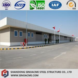 Multi Span Steel Structure Workshop with Parapet pictures & photos