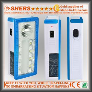 Solar Emergency Light with Desk Lamp, 1W Flashlight (SH-1904B) pictures & photos