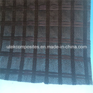 Polyester Reinforcement Grid with Nonwoven Geotextile Backing pictures & photos