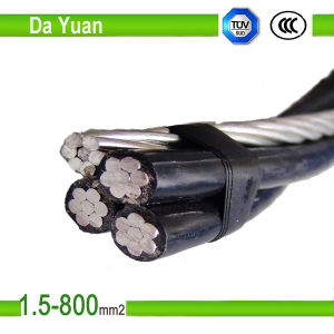 0.6kv 1kv PVC XLPE Insulated Aluminum Wire 2*16 mm2 ABC Cable pictures & photos