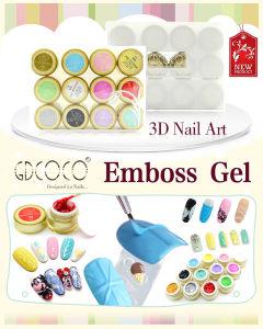 #40269c 3D Nail Design Gel Nail Art Emboss Gel Nail Beauty Gel