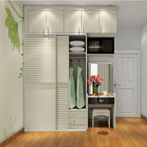 Simple Fashion Style Shutter Door Push Pull Wardrobe pictures & photos