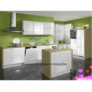 Modern and Simple High Gloss Paint Finished Small Kitchen Cabinet pictures & photos